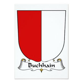 """Escudo de la familia de Buchhain Invitación 5"""" X 7"""""""