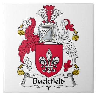 Escudo de la familia de Buckfield Azulejo Cuadrado Grande