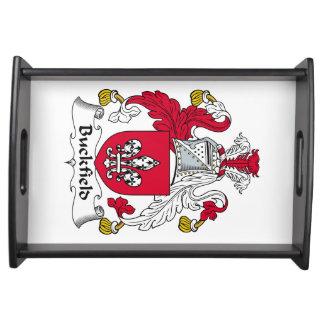 Escudo de la familia de Buckfield Bandeja