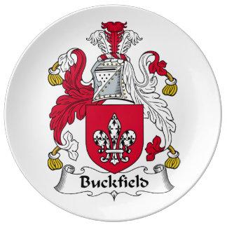 Escudo de la familia de Buckfield Plato De Cerámica
