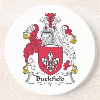 Escudo de la familia de Buckfield Posavasos Cerveza