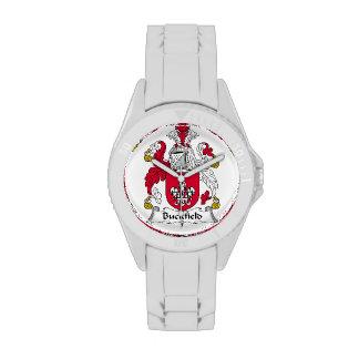 Escudo de la familia de Buckfield Relojes