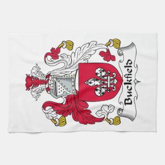 Escudo de la familia de Buckfield Toalla De Mano