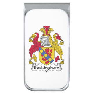 Escudo de la familia de Buckingham Clip Para Billetes Plateado