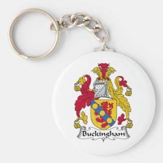 Escudo de la familia de Buckingham Llavero Redondo Tipo Pin