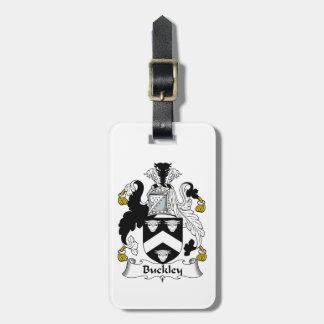 Escudo de la familia de Buckley Etiquetas Bolsa