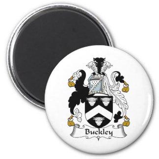 Escudo de la familia de Buckley Imán Redondo 5 Cm