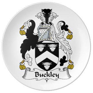 Escudo de la familia de Buckley Plato De Cerámica