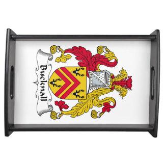 Escudo de la familia de Bucknall Bandeja