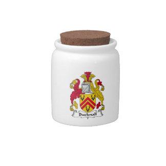 Escudo de la familia de Bucknall Platos Para Caramelos