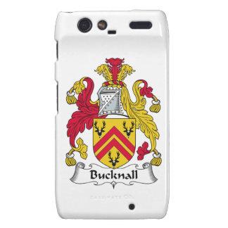 Escudo de la familia de Bucknall Motorola Droid RAZR Fundas