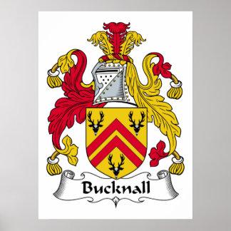 Escudo de la familia de Bucknall Impresiones
