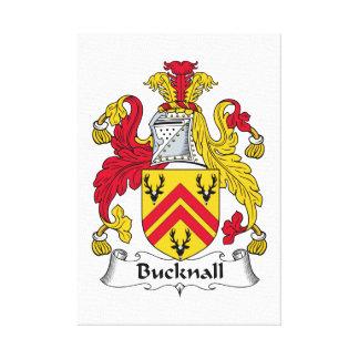 Escudo de la familia de Bucknall Lienzo Envuelto Para Galerias