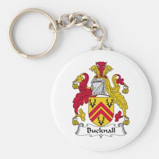 Escudo de la familia de Bucknall Llavero Personalizado