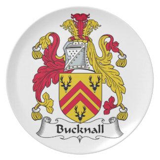 Escudo de la familia de Bucknall Platos De Comidas