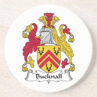 Escudo de la familia de Bucknall Posavaso Para Bebida