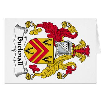 Escudo de la familia de Bucknall Tarjeta De Felicitación