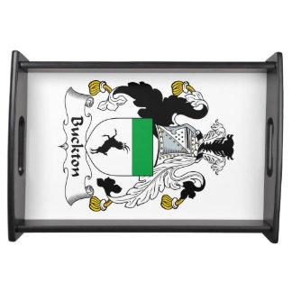 Escudo de la familia de Buckton Bandejas