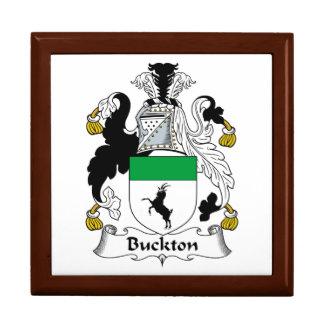 Escudo de la familia de Buckton Joyero Cuadrado Grande