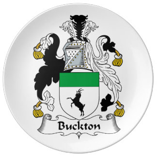 Escudo de la familia de Buckton Plato De Cerámica