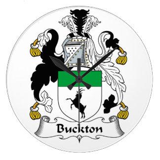 Escudo de la familia de Buckton Reloj Redondo Grande