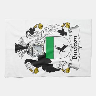 Escudo de la familia de Buckton Toallas