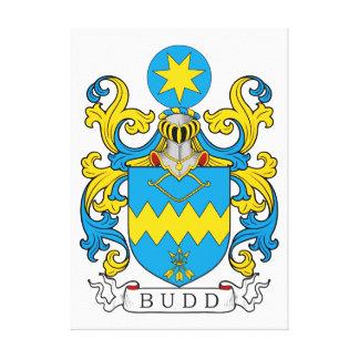 Escudo de la familia de Budd Lienzo Envuelto Para Galerías