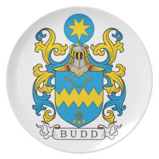 Escudo de la familia de Budd Plato De Cena