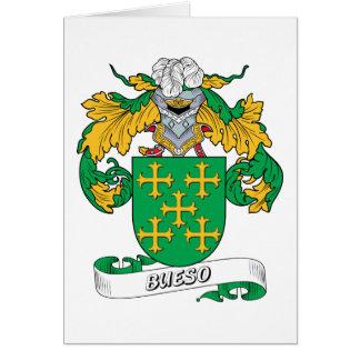 Escudo de la familia de Bueso Tarjeta De Felicitación
