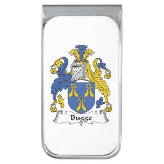 Escudo de la familia de Bugge Clip Para Billetes Plateado
