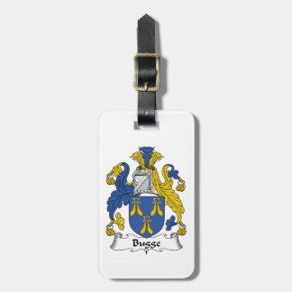Escudo de la familia de Bugge Etiquetas Maletas