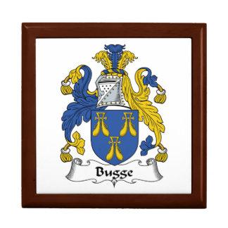 Escudo de la familia de Bugge Joyero Cuadrado Grande