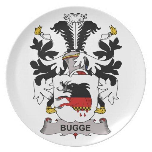 Escudo de la familia de Bugge Platos
