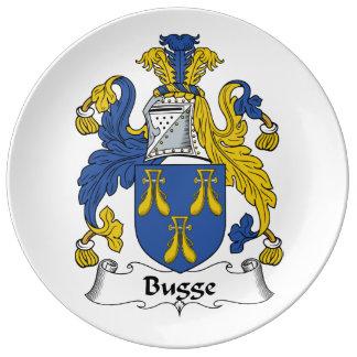 Escudo de la familia de Bugge Platos De Cerámica