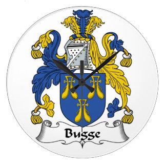 Escudo de la familia de Bugge Reloj Redondo Grande