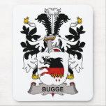 Escudo de la familia de Bugge Alfombrillas De Raton