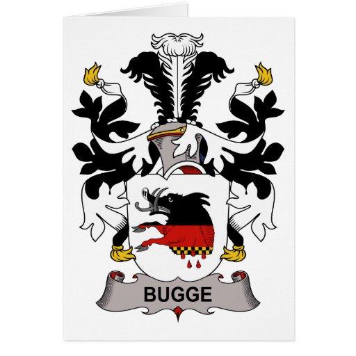 Escudo de la familia de Bugge Tarjeta De Felicitación