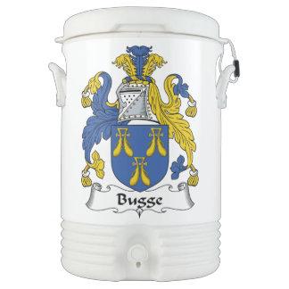 Escudo de la familia de Bugge Vaso Enfriador Igloo