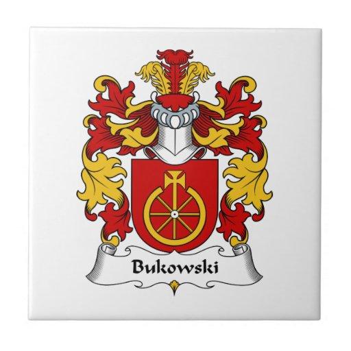 Escudo de la familia de Bukowski Tejas Ceramicas