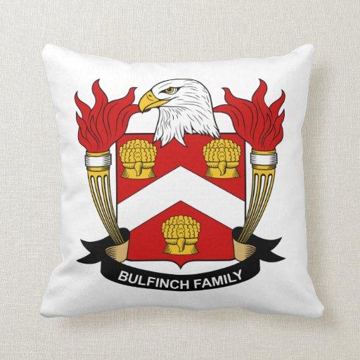 Escudo de la familia de Bulfinch Cojin