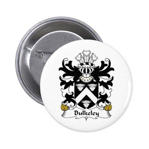 Escudo de la familia de Bulkeley Pin Redondo 5 Cm