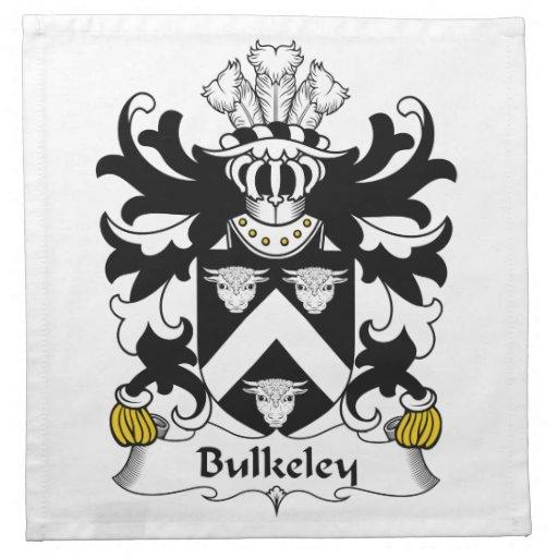 Escudo de la familia de Bulkeley Servilleta Imprimida
