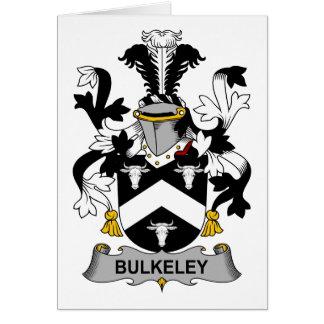 Escudo de la familia de Bulkeley Tarjeta De Felicitación