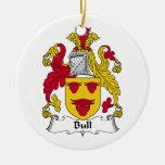 Escudo de la familia de Bull Adornos