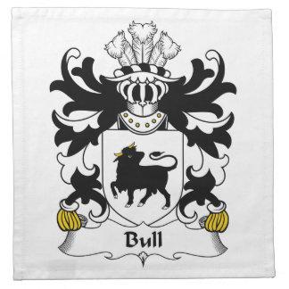 Escudo de la familia de Bull Servilleta De Papel