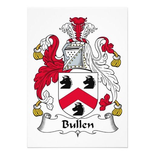 Escudo de la familia de Bullen Anuncio