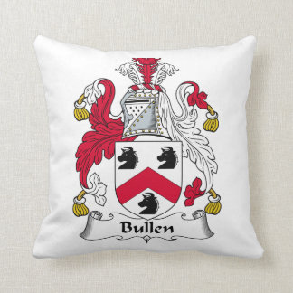 Escudo de la familia de Bullen Cojín
