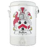 Escudo de la familia de Bullen Enfriador De Bebida Igloo