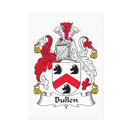 Escudo de la familia de Bullen Impresión En Tela