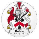 Escudo de la familia de Bullen Relojes De Pared